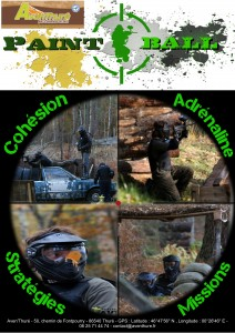 affiche paintball site