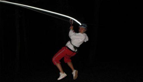 Parcours nocturne avec lampe frontale !